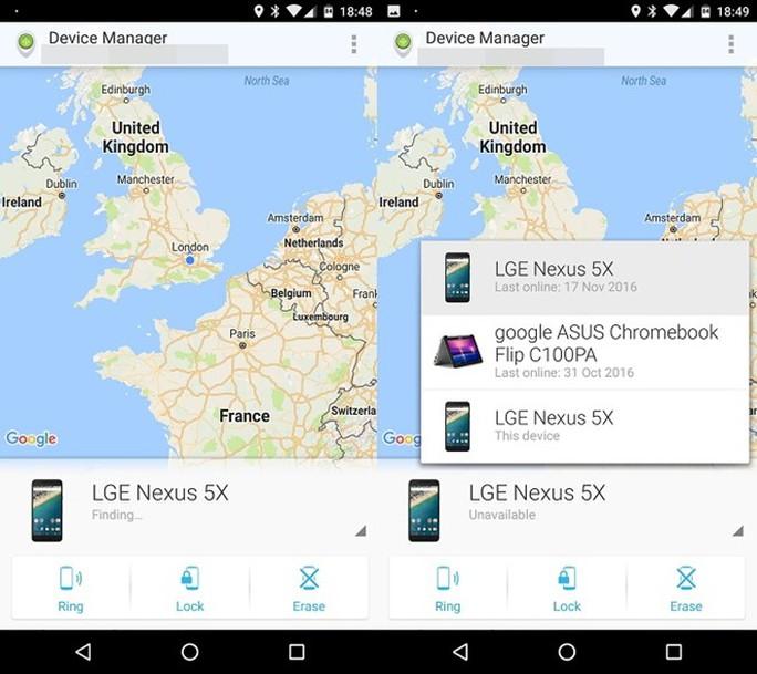 Android có sẵn công cụ tìm điện thoại bị thất lạc trên máy.