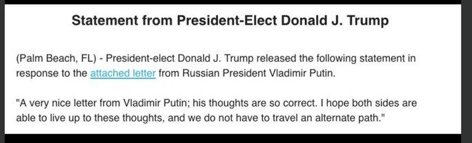 Tuyên bố của ông Trump. Ảnh: Twitter