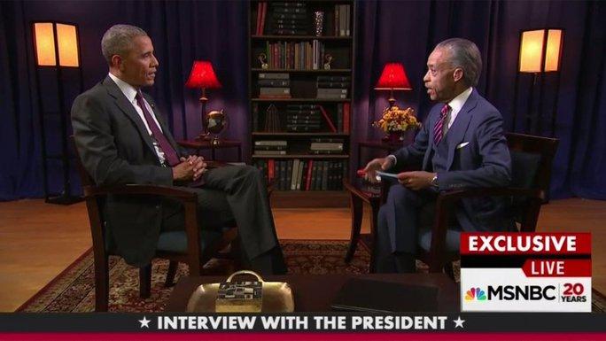 Tổng thống Barack Obama và mục sư Al Sharpton Ảnh: HOLLYWOODREPORTER.COM