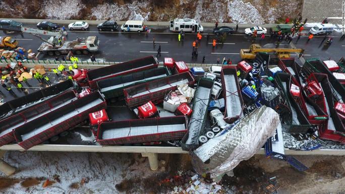 Hiện trường vụ tai nạn Ảnh: CNN