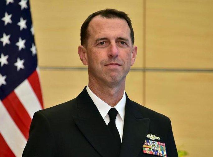 Tư lệnh Hải quân Mỹ John Richardson Ảnh: REUTERS