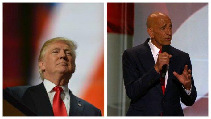 Tổng thống đắc cử Trump và nhà đầu tư Tom Barrack Ảnh: MYFOX8