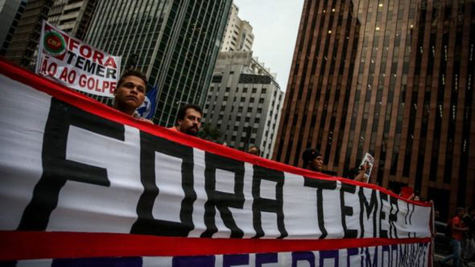 Tổng thống Michel Temer hứa hẹn đưa đất nước ra khỏi tình trạng suy thoái tồi tệ nhất trong nhiều thập kỷ. Ảnh: EPA
