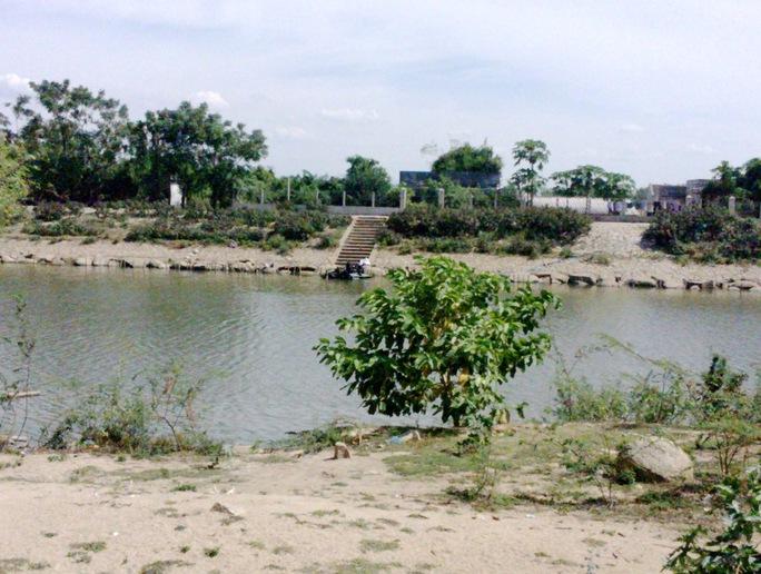 Sông Hà Thanh, nơi phát hiện thi thể nạn nhân