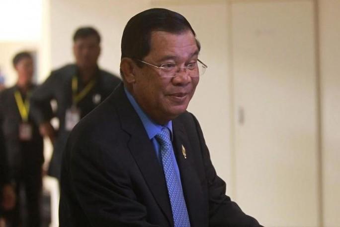 Thủ tướng Campuchia Hun Sen ủng hộ ứng viên Donald Trump. Ảnh: Reuters