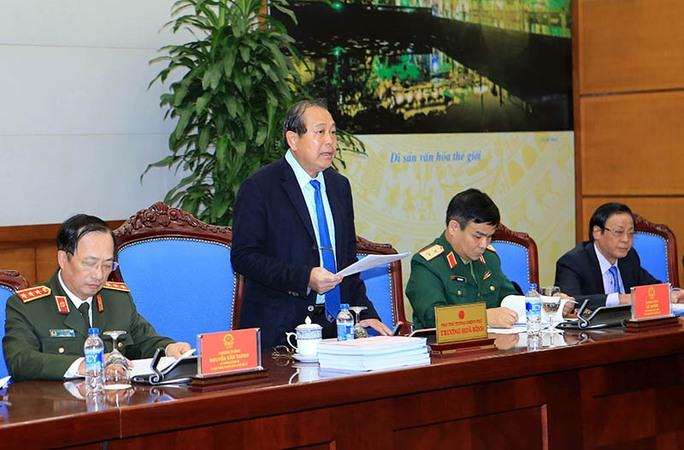 Phó Thủ tướng Trương Hòa Bình phát biểu tại cuộc họp. Ảnh: VGP/Lê Sơn