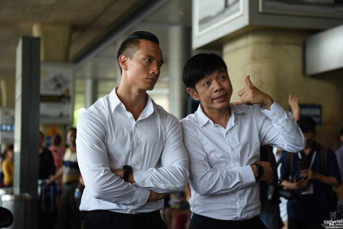 Kim Lý và Thái Hòa trong phim