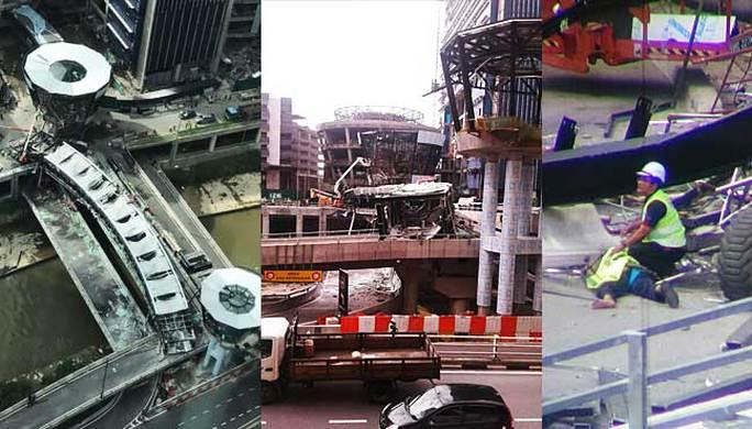Hiện trường vụ tai nạn. Ảnh: Free Malaysia Today