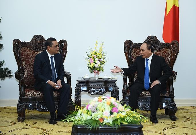 Thủ tướng Nguyễn Xuân Phúc tiếp Phó Tư lệnh Cảnh sát Quốc gia Indonesia, ông Syafruddin - Ảnh: Quang Hiếu