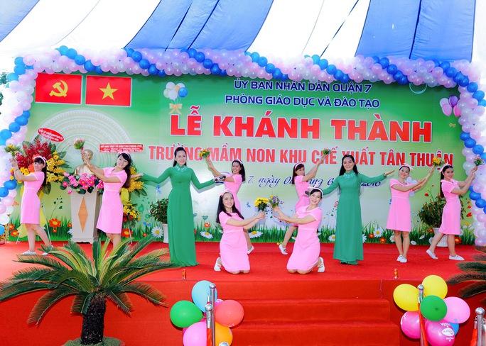 Trường Mầm non KCX Tân Thuận, quận 7, TP HCM trong ngày khánh thành