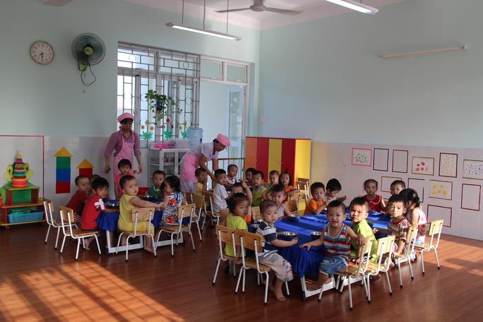 Con công nhân đang theo học tại Trường Mầm non KCX Linh Trung 1, quận Thủ Đức, TP HCM