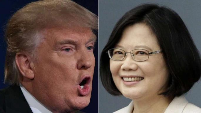 Tổng thống Mỹ đắc cử Donald Trump và lãnh đạo Đài Loan Thái Anh Văn. Ảnh: SCMP