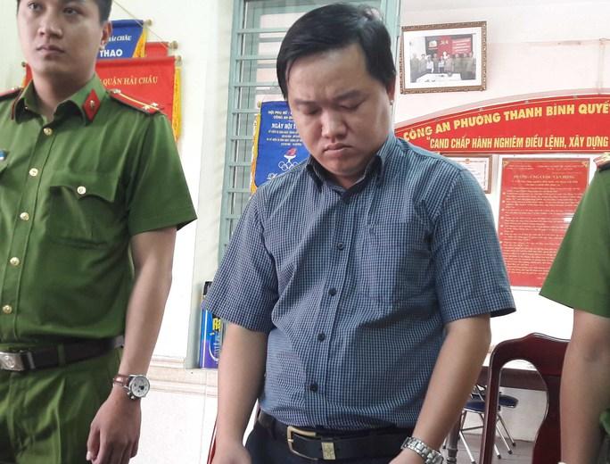 Hoàng Hiếu Trung, nguyên Trưởng phòng giao dịch Lê Lợi SeABank Đà Nẵng tại cơ quan công an