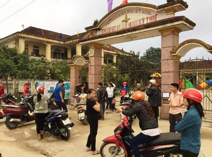 Trường Mầm non xã Kỳ Thư - nơi xảy ra vụ việc nghi vấn đối tượng bắt cóc trẻ em