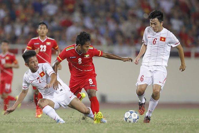 Xuân Trường (6) từng giành chiến thắng đậm trước Myanmar ở lứa U19