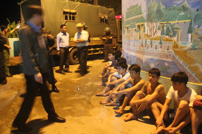 Một số học viên đào tẩu bị bắt về trong đếm 6-11