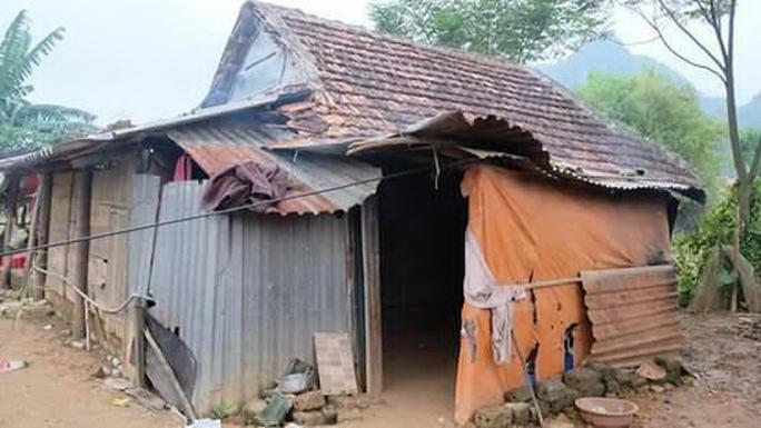 Căn nhà của gia đình anh Hà Ngọc Sơn tại xã Sơn Trạch Ảnh: Hoài Thu