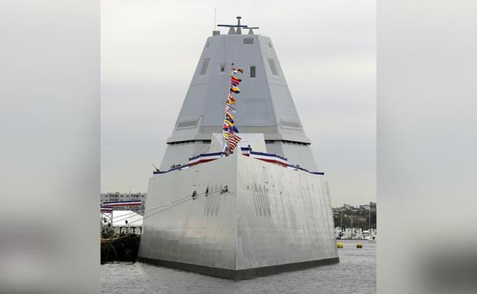 Tàu khu trục USS Zumwalt. Ảnh: NDTV