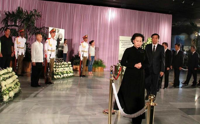 Việt Nam là đoàn đại biểu quốc tế đầu tiên đến Cuba để viếng lãnh tụ Cuba Fidel - Ảnh: VOV