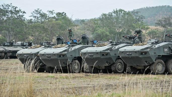 Xe bọc thép chở bộ binh Terrex của Singapore. Ảnh: MINDEF