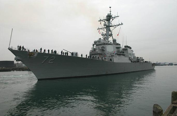 Khu trục hạm USS Mahan. Ảnh: WIKIMEDIA