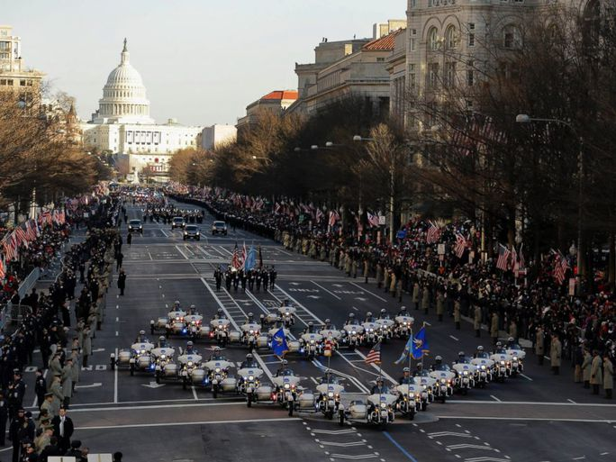 Diễu hành trong lễ nhậm chức của Tổng thống Obama năm 2013. Ảnh: AP