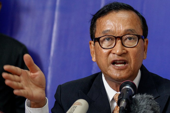 Ông Sam Rainsy. Ảnh: THE CAMBODIA DAILY