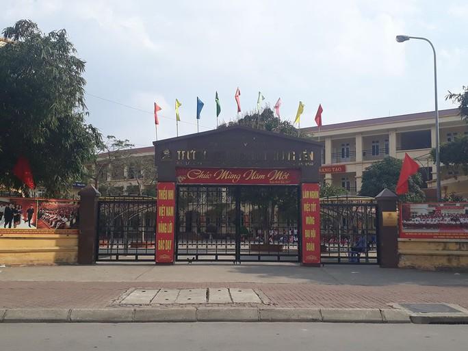 Trường tiểu học Nam Trung Yên nơi xảy ra vụ tai nạn giao thông