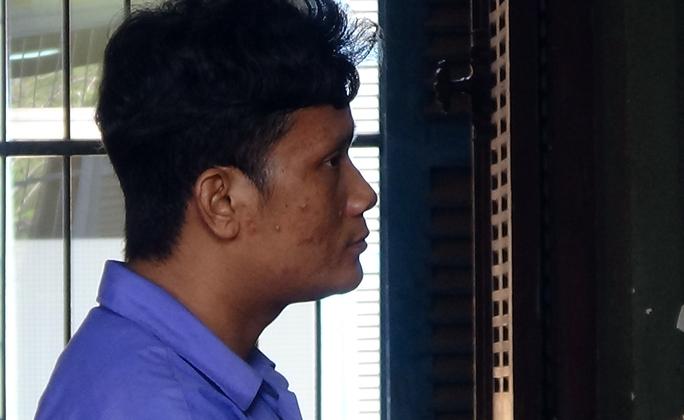 Bị cáo Sơn Tinh tại phiên tòa.