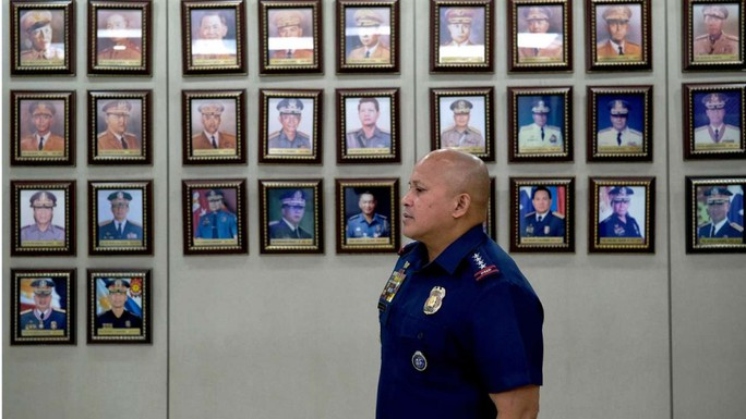 Cảnh sát trưởng quốc gia Philippines Ronald dela Rosa. Ảnh: BLOOMBERG