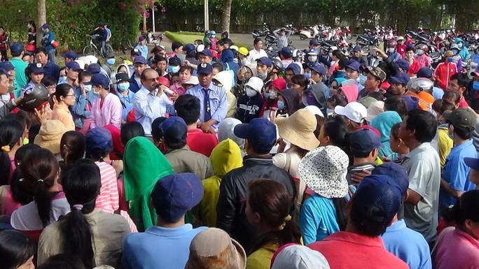 Gần 700 công nhân làm việc tại Công ty dệt may Mei Sheng Textiles VN đình công sáng 3-4.