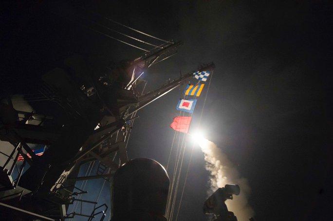 Nga cho biết chỉ 40% số tên lửa Tomahawk của Mỹ bắn trúng mục tiêu ở Syria. Ảnh: TWITTER