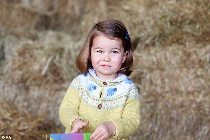 Hình ảnh dễ thương mới nhất của tiểu công chúa Anh. Ảnh: PA