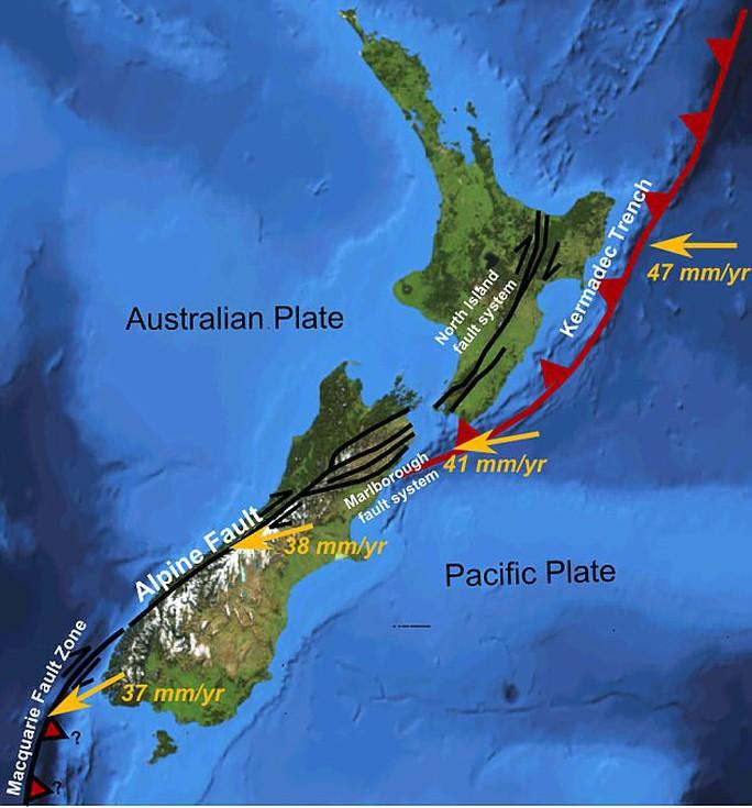 """""""Quái vật"""" cựa mình bên dưới New Zealand - Ảnh 1."""
