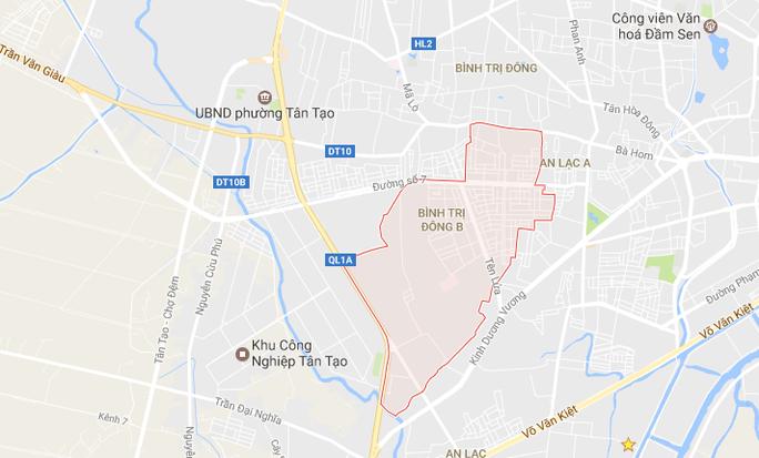 Phường Bình Trị Đông B, quận Bình Tân, TP HCM rộng 4,5km2 và dân số gần 67.000 người