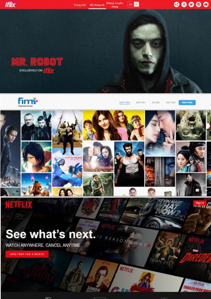 Những trang phim trực tuyến có bản quyền.