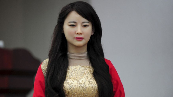 Thánh nữ robot Gia Gia. Ảnh: Reuters