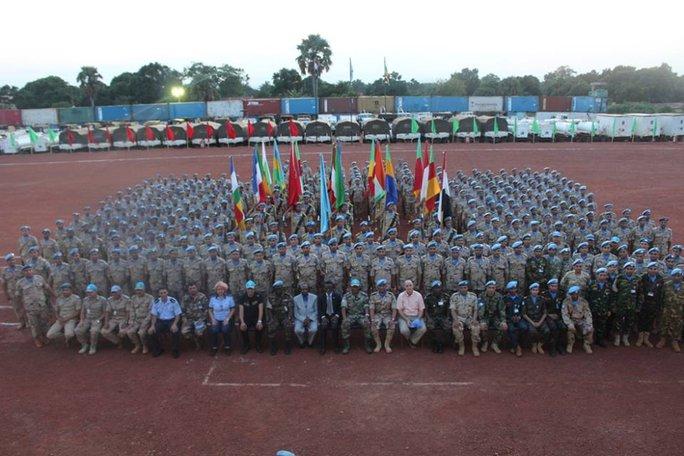 Lực lượng một Phái bộ Gìn giữ hoà bình tại Trung Phi - Ảnh: Thiếu tá Trương Anh Tuấn