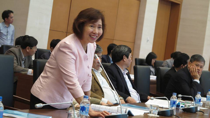 Thứ trưởng Công thương Hồ Thị Kim Thoa dự hội thảo - Ảnh: Nguyễn Dũng
