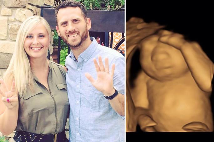 Vợ chồng anh Royce - cô Keri và con gái Eva. Ảnh: Facebook