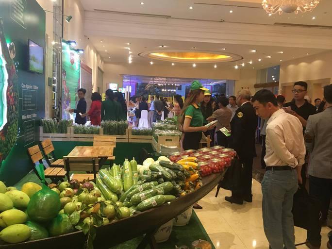 Các sản phẩm của doanh nghiệp tại lễ công bố HVNCLC