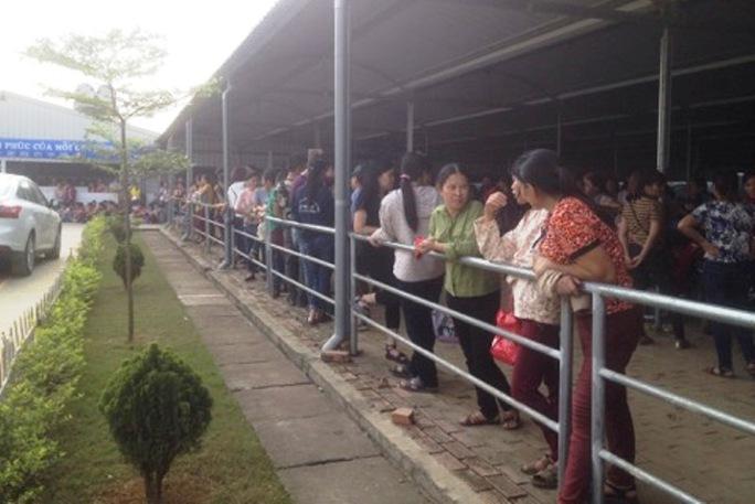 Công nhân Công ty TNHH ANTONIA Việt Nam đã đi làm trở lại khi được công ty trả lại ngày nghỉ theo đúng quy định