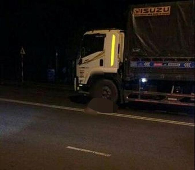 Té xuống đường, 2 người bị xe tải cán tử vong - Ảnh 1.