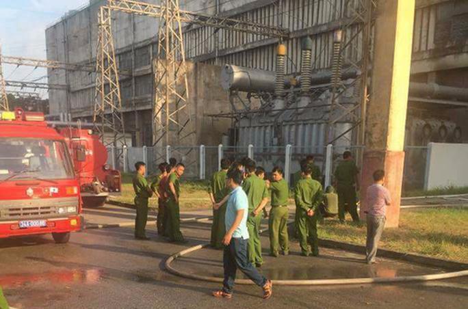 Cháy lớn tại Công ty Nhiệt điện Phả Lại - Ảnh 1.