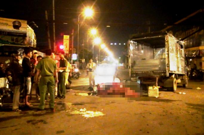 Xe tải qua đường, thanh niên chết dưới gầm - Ảnh 1.