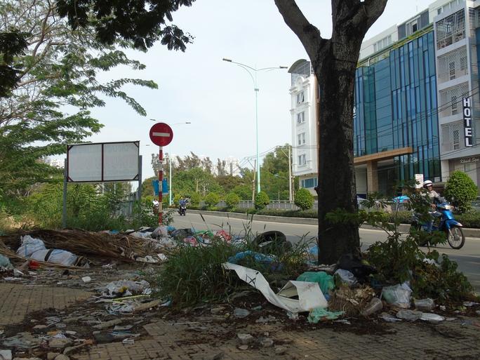 Bữa tiệc rác ở hai đầu cầu Him Lam, nhìn thôi đã ngán. Ảnh chụp 23-2.