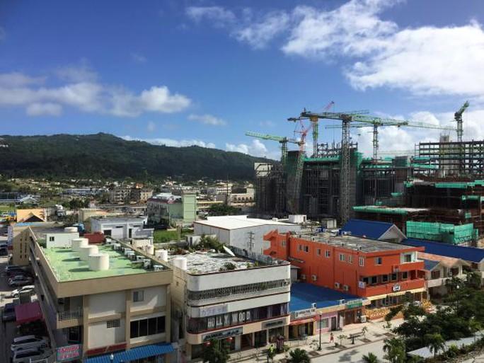 Khu nghỉ mát - sòng bạc đang xây dựng của Imperial Pacific trên đảo Saipan. Ảnh: REUTERS