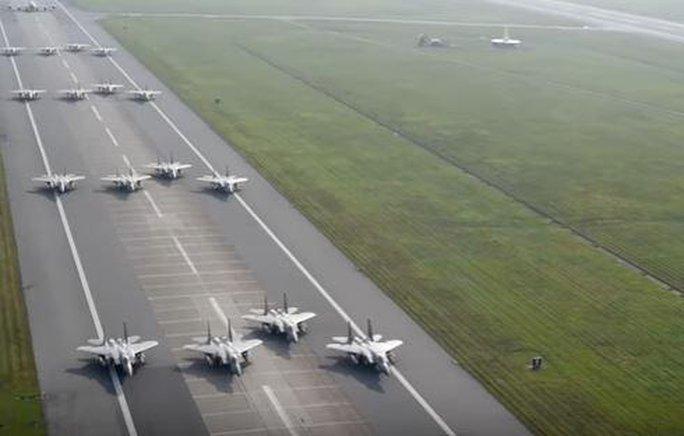 Máy bay Mỹ tham gia cuộc tập trận không được thông báo trước. Ảnh: U.S. AIR FORCE