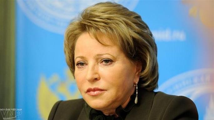 Bà Valentina Ivanovna Matviyenko - Nguồn: PressTV