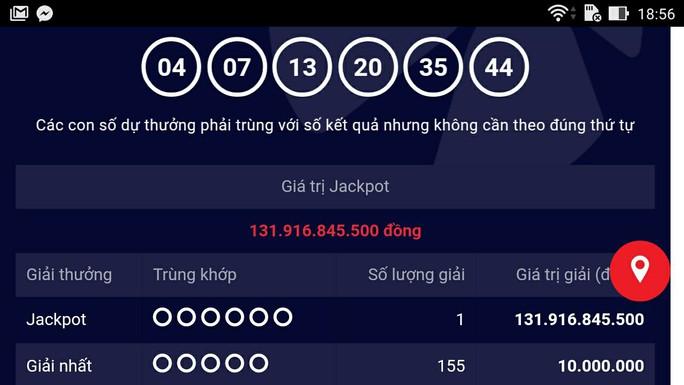 Đã có người trúng Vietlott gần 132 tỉ đồng - Ảnh 1.